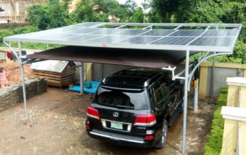 Installation of a 3kw Solar Hybrid Car Port Home System in Ikorodu, Lagos – Nigeria