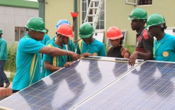 Professional Solar Training of Students, Dec. 2017 at Lagos – Nigeria